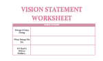 Vision Statement Worksheet Preview