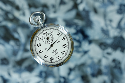 Want success control time. This shows a clock falling to the ground to show a sense of time being out of control