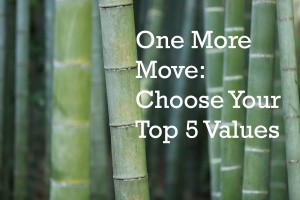 Choose Your Values: OMM Against Green Bamboo Backdrop