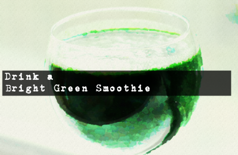 bright green smoothie for energy
